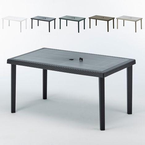 Set of 12 BOHEME Polyrattan 150x90 Tables for Outdoors Bars Restaurants