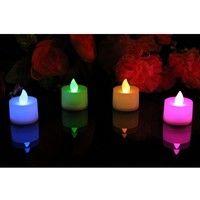 Set of 12 Color Changing Lights, Led Candle Lights, Pack of 12, Color: Multi-color