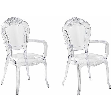 Set of 2 Accent Chairs Acrylic Transparent VERMONT II