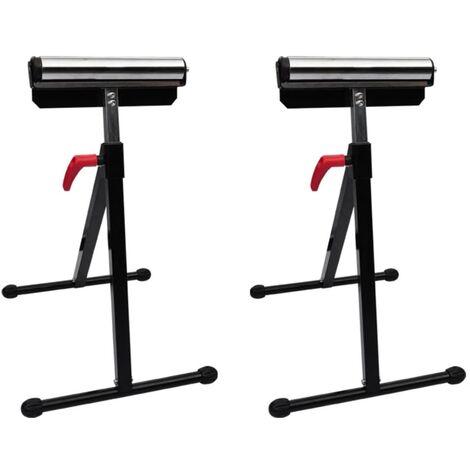 Set of 2 Adjustable Roller Stands