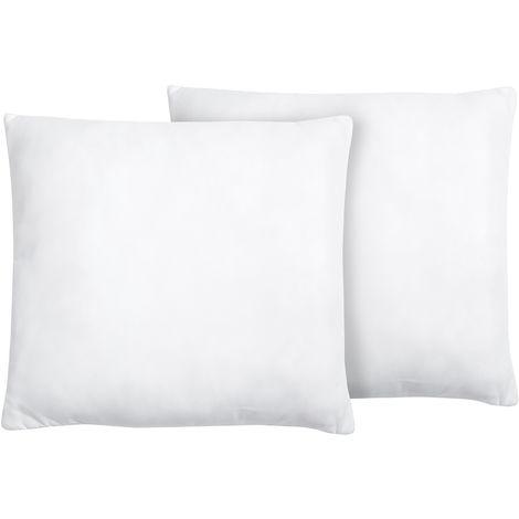 Set of 2 Bed Pillows 65 x 65 cm MANA