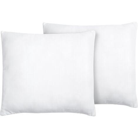 Set of 2 Bed Pillows 80 x 80 cm MANA