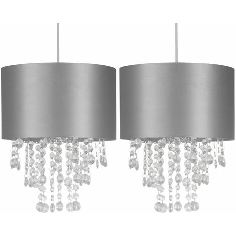 """main image of """"Set of 2 Dark Grey Jewelled Easy Fit Light Shades"""""""