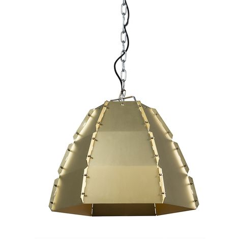 Set of 2 design hanging lamps gold / brass - Niro