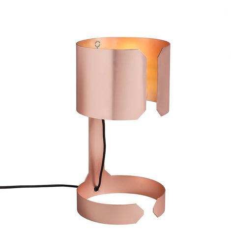 Set of 2 design table lamps matt copper - Waltz