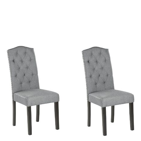 Set of 2 Dining Chairs Grey SHIRLEY