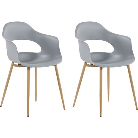 Set of 2 Dining Chairs Grey UTICA