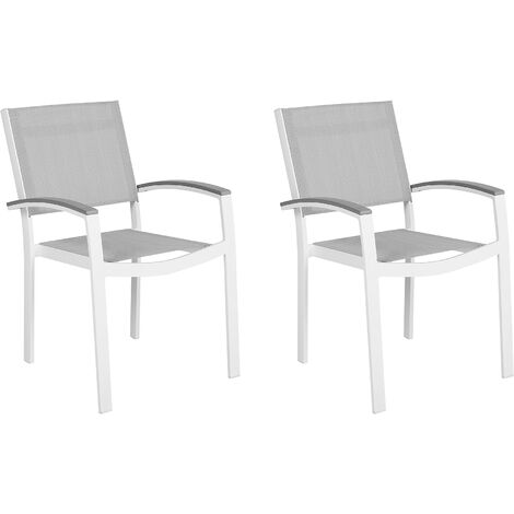 Set of 2 Garden Chairs Grey PERETA