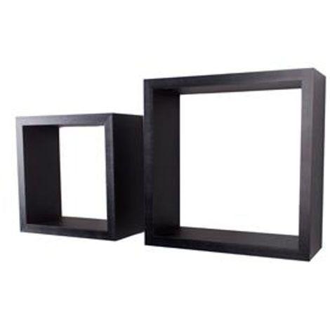 Set Of 2 Hudson Cubes - Matt Black