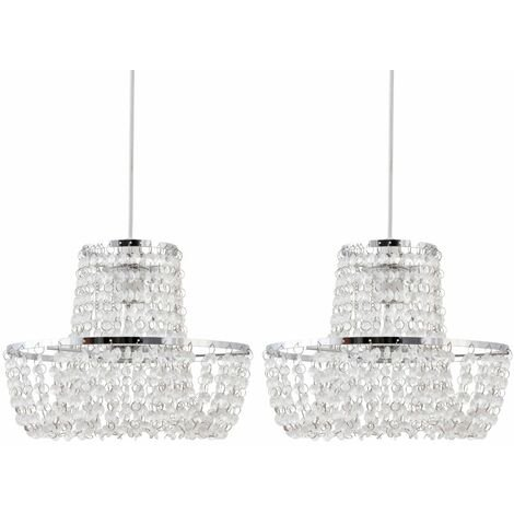 Set of 2 Jewelled Easy Fit Light Shades