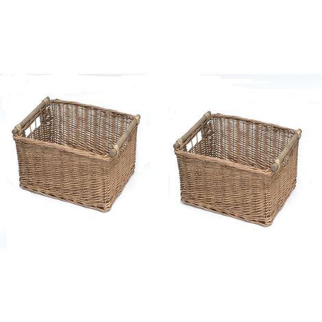 Set Of 2 Log Basket