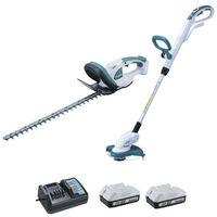 Set of 2 machines MAKITA 18V DK18620X1 Hedge trimmer UH522D - grass cutter UR180D