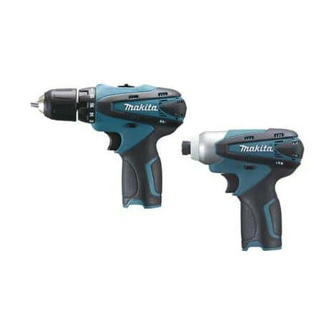 Set of 2 machines Makita LCT204J - screwdriver Drill - Impact Driver 10 8V  1 3Ah Li-Ion