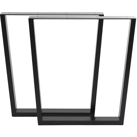 Set of 2 Metal Table Bench Legs Frames Trapezium Steel Base Stands
