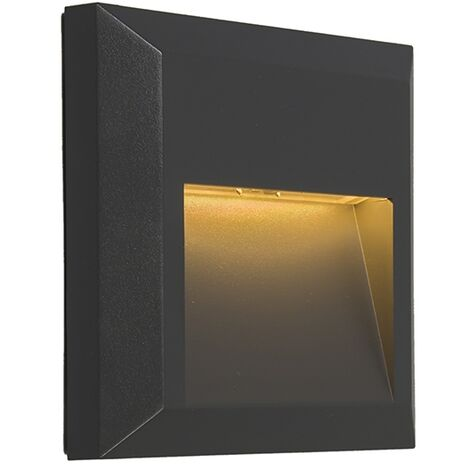 Set of 2 modern wall lamps dark gray incl. LED - Gem 2