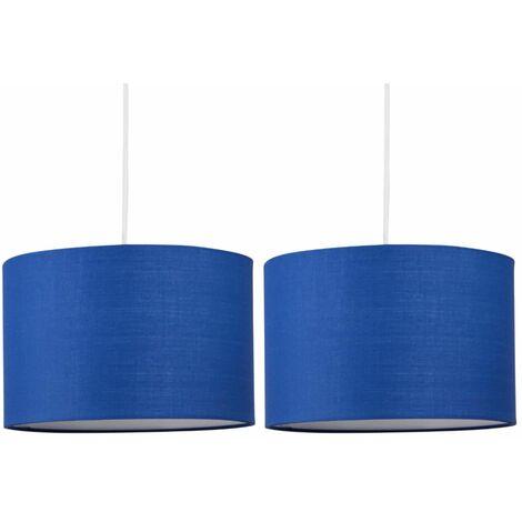 Set of 2 Navy Blue 25cm Ceiling Light Shades