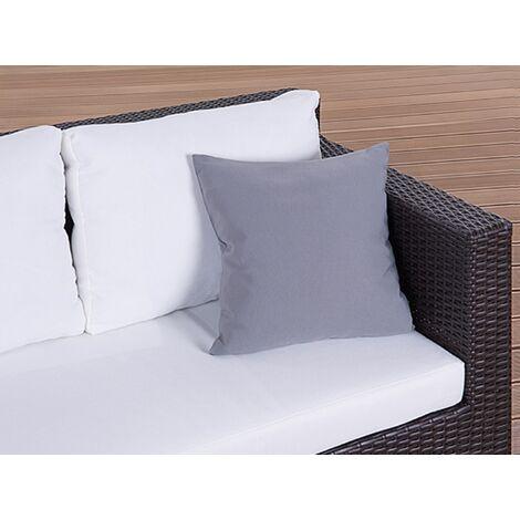 Set of 2 Outdoor Cushions 40 x 40 cm Grey