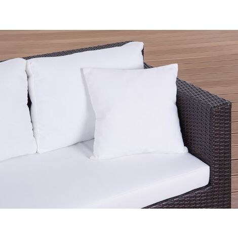 Set of 2 Outdoor Cushions 40 x 40 cm White