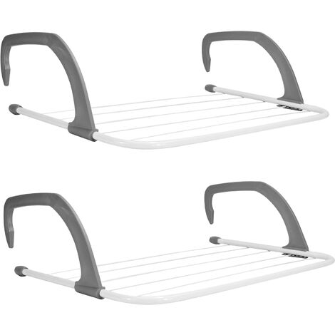 Set of 2 Radiator Clothes Airers | M&W
