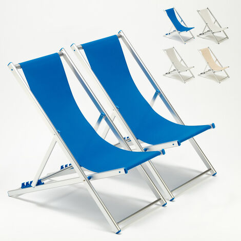 Set of 2 RICCIONE Beach & Patio Deck Chairs