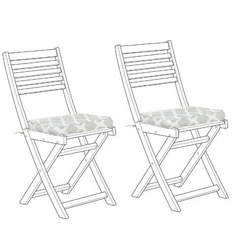 Set of 2 Seat Cushions Mint Green FIJI