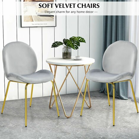 """main image of """"Set of 2 Velvet Dining Chair Modern Lounge Chair Upholstered Makeup Vanity Chair"""""""