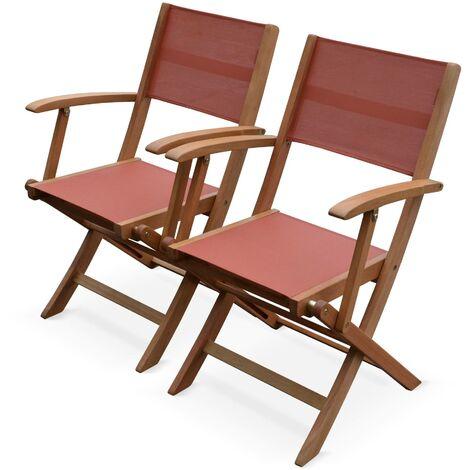 Set of 2 wooden garden armchairs - Almeria