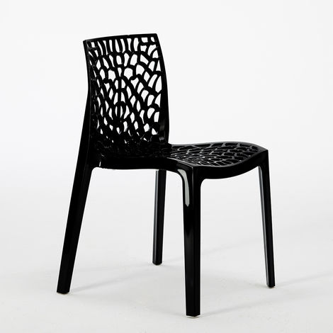 Set of 22 GRUVYER Grand Soleil Stackable Chairs For Bars and Restaurants made of Polypropylene