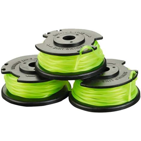 Set of 3 coils single twisted wire RYOBI 2mm for trimmers on battery RAC143