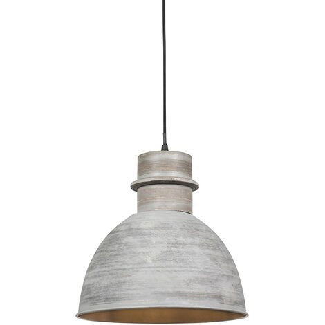 """main image of """"Set of 2 country hanging lamps gray - Dory"""""""