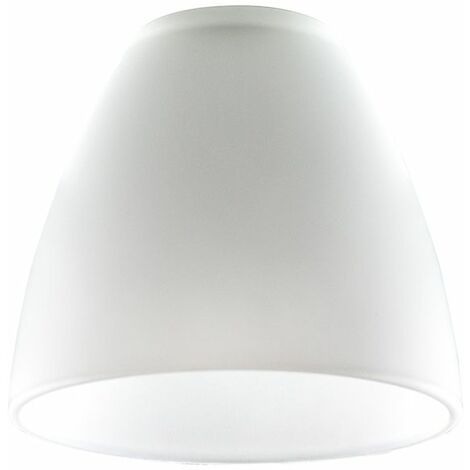 Set Of 3 Frosted White Glass Replacement Ceiling Wall Light Shade Lamp Shades - White