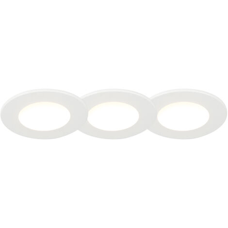 Set of 3 Recessed Spotlights 5W IP65 White - Blanca