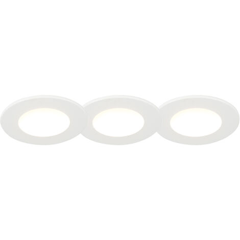 Set of 3 recessed spotlights white incl. LED 3000K 4W IP65 - Blanca