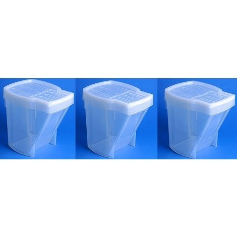 Set of 3 Recycle Bins - Translucent