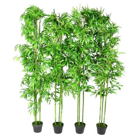 Set of 4 Bamboo Artificial Home Decor 190cm