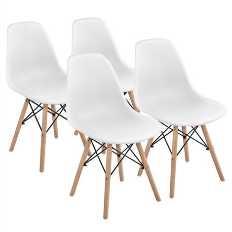 """main image of """"Set of 4 Modern Dining Chairs Comfortable Accent Chair Side Chair with Natural Beech Wooden Legs for Dining Room Kitchen Cafe Furniture"""""""