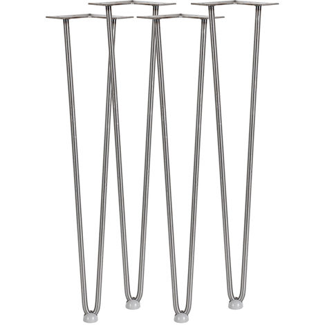 Set of 4 Steel Hairpin Legs 60cm Tall for Tables, Sofas, Benches, etc.