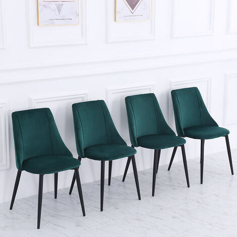 """main image of """"Set of 4 Velvet Dining Chairs"""""""