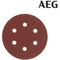 Set of 5 abrasive discs AEG grain 40 150mm 4932430454