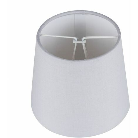 Set Of 5 - Clip On Chandelier Lampshades In A Grey Finish - Grey
