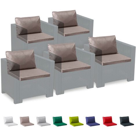 Set Of 5 Seat & Back Indoor And Outdoor Cushions