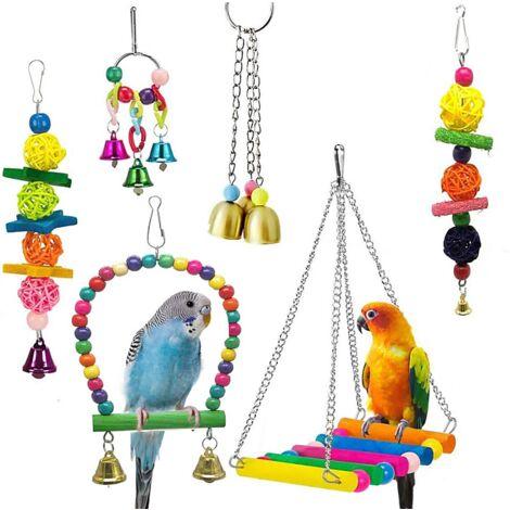 Set of 6 pieces of bird toys, toys for parrots, bird supplies, bird toys