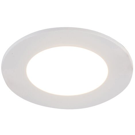 """main image of """"Set of 6 recessed spots white incl. LED 3-step dimmable IP65 - Blanca"""""""