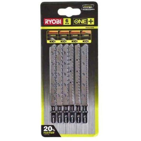 Set of 6 special blades for jigsaw RYOBI OnePlus RAK6JSBW