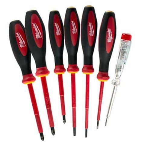 Set of 7 MILWAUKEE test screwdrivers - 4932464067