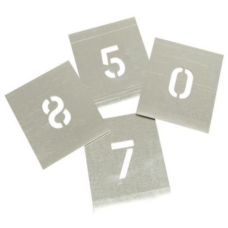 Set of Zinc Stencils - Figures 1.1/2in