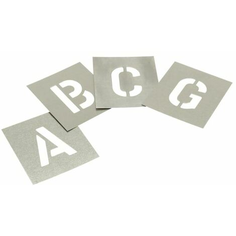 """main image of """"Set of Zinc Stencils - Letters 2.1/2in STNL212"""""""
