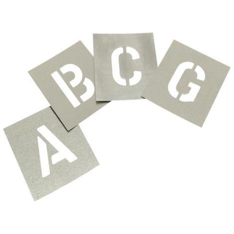 Set of Zinc Stencils - Letters 3.in