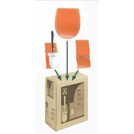 Set olfa : abattant + porte balai + porte papier, Abattant standard