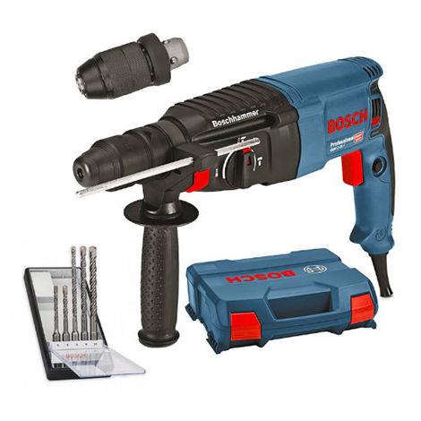 Set perforateur GBH 2-26 F Professional 2.7J (06112A4000) + 5 forets SDS Plus-5 (2608588721) dans coffret L-Case BOSCH 06112A4001